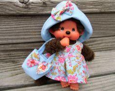KLEIDUNG  für MONCHICHI Gr. 20  Kleid Nachthemd von Puppensachen