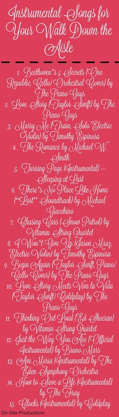 "Piano Songs To Walk Down The Aisle To: Cute Way To Say ""no Gifts Please"" :)"