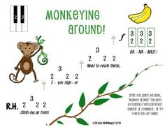 Monkey Pre-Reading Piano Song