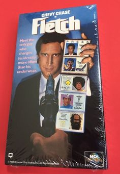Fletch VHS Chevy Chase Sealed Video Movie New Old Stock Tape 1985