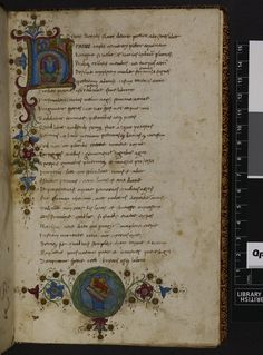 BL Harley 2581   f. 1 Decorated initial