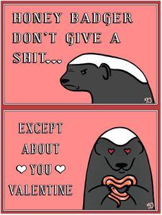 Honey Badger Valentine