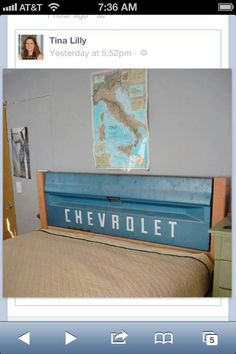Tailgate headboard. Needs tail lights for reading or as night light