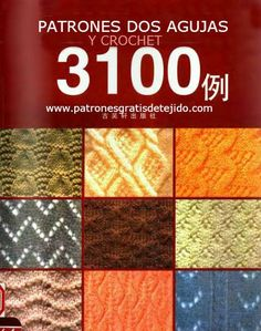 Japanese book of 3100 knitting & crochet stitches. Pictures in front of book & stitch patterns in back of book. You can read them all on Issuu! Knitting Books, Crochet Books, Knitting Charts, Knitting Stitches, Crochet Stitches Patterns, Crochet Motif, Stitch Patterns, Knit Crochet, Knitting Patterns