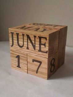 Check out this item in my Etsy shop https://www.etsy.com/listing/214940227/oak-perpetual-wood-calendar-unique