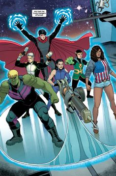 YOUNG AVENGERS #7 One of the coolest looking teams in all of comics