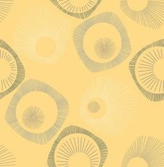 James (269337) - Albany Wallpapers - A fun retro design with four-sided star burst shapes in black, grey and cream on a bold yellow with mica highlights. Please request sample for true colour match.