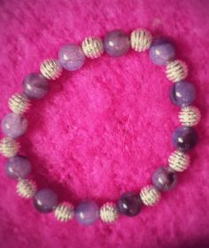 Hey, I found this really awesome Etsy listing at https://www.etsy.com/listing/182305332/lilac-and-silver-stretchy-bracelet