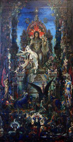 Gustave Moreau, Jupiter et Sémélé 1895, Huile sur toile, 213 x 118 cm, Musée Gustave Moreau, Paris