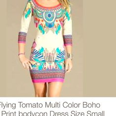 Selling this Flying Tomato Boho Print Bodycon Dress: S in my Poshmark closet! My username is: hacsince91. #shopmycloset #poshmark #fashion #shopping #style #forsale #Flying Tomato #Dresses