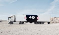 truck art project turns freighters into a fleet of mobile artworks