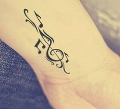 100 Music Tattoo Designs For Music Lovers - Best Tattoos Unendlichkeitssymbol Tattoos, Tattoos Musik, Paar Tattoos, Body Art Tattoos, Cool Tattoos, Tatoos, Small Music Tattoos, Music Tattoo Designs, Small Tattoos With Meaning