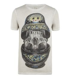 Doll Cut Collar Crew T-shirt, Men, Graphic T-Shirts, AllSaints Spitalfields