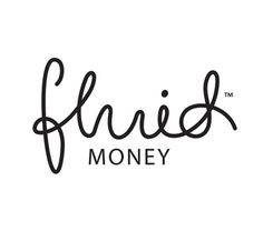 Logotype for simple and affordable personal finance service and travel insurance provider Fluid Money. Designed by Buddy