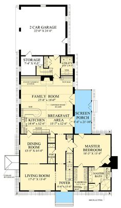 Floor 1 - I like this one, even though only the master bedroom is on the first floor. There is a room over the garage that I could use for scrapbooking, and three guest rooms on the second floor, each with ensuite bathrooms.