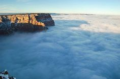 A sea of clouds is seen filling the entirety of the Grand Canyon on November 29.   by National Parks Service, AP https://www.facebook.com/144196109068278/photos/a.168988406589048.1073741825.144196109068278/251571858330702/?type=3&theater