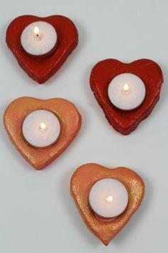 Pots à bougie en forme de cœur