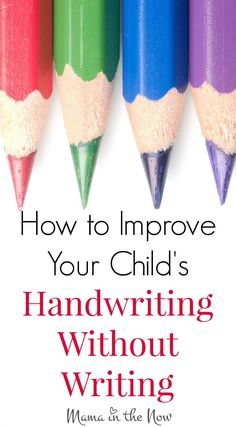 35 Fun Ways to Improve Your Child's Handwriting! Without Writing! Incredible resource in one article. Written by a pediatric OT - expert advice! Great link to share with Kinder parents!