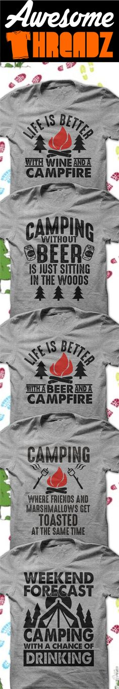 Check Out All Of Our Awesome Camping T-Shirts And Hoodies