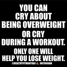 I prefer the workout crying