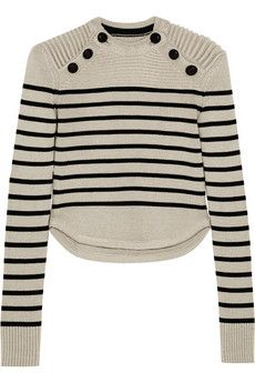 Isabel Marant Hatfield striped merino wool-blend sweater | NET-A-PORTER