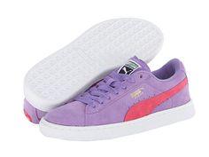 Puma Kids Suede Jr (Little Kid/Big Kid) Dahlia Purple/Paradise Pink - Zappos.com Free Shipping BOTH Ways