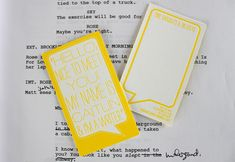 """I absolutely love these business cards from Ice Cream Social for writer Caitlin Hall. Growing up, my Dad always used to cite this quote from playwright David Belasco:""""If you can't write your idea on the back of my calling card, you don't have a clear idea"""" – and these cards put the concept behind that …"""