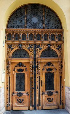 Doorway - A beautiful artistic doorway in Budapest.