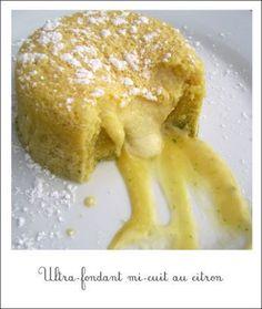 Ultra-fondant mi-cuit au citron - Pich à la fraise