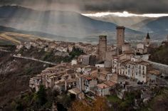 castle of Pacentro - Majella National Park, Abruzzo, Italy. 42°03′05″N 13°59′33″E