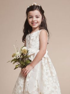 flower girl dress---I love this one @Jessica Hess too bad it's off white