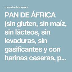 PAN DE ÁFRICA (sin gluten, sin maíz, sin lácteos, sin levaduras, sin gasificantes y con harinas caseras, para dietas muy estrictas) | Cocina