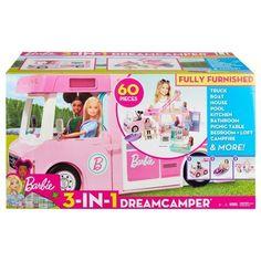 Barbie Camper, Camping Car Barbie, Mattel Barbie, Pick Up, Sleeping Under The Stars, 7 Year Olds, Barbie World, Sleeping Bag, Picnic Table
