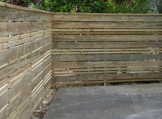 Timber Paling - Horizontal with Cap Rail, 2 x thin Palings
