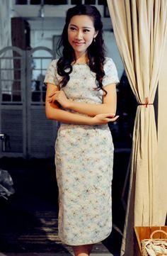 Summer Blue Linen Chinese DressCheongsam by RockRollRefresh, $68.00