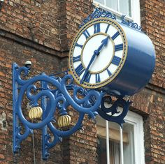 Unusual Clocks, Time Clock, Gifts For Office, Street Lamp, Antique Clocks, Blue Aesthetic, Shop Signs, Decoration, Lights