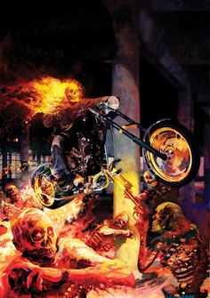 Ghost Rider vs. Zombies by Arthur Suydam