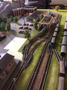 Digitální kolejiště N , 1250x1800mm Railroad Tracks, Basketball Court, Train Tracks