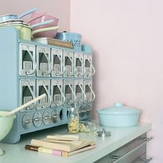 I want a cute little baking station like this one :)