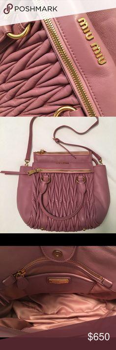 Miu Miu new mauve leather tote bag Miu Miu - unworn mauve leather satchel  bag -. Poshmark de2d5095b6