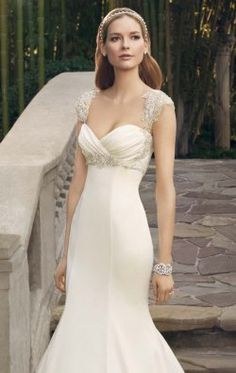 Beaded Ruched Sweetheart Gown by Casablanca Bridal 2179