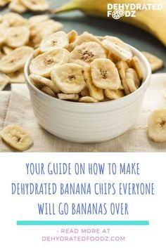 Finding food that everyone will enjoy can be a challenge but when you find the perfect recipe it is amazing. Here is your guide on how to make dehydrated banana chips everyone will love. Dehydrated Banana Chips, Dried Banana Chips, Dried Bananas, Dehydrated Apples, Raw Food Recipes, Snack Recipes, Banana Recipes Healthy Snacks, Dehydrated Food Recipes, Healthy Salty Snacks