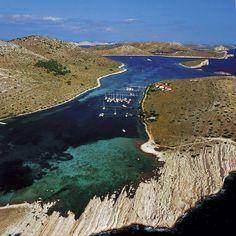 Kornati islands near Zadar and Sv. Filip and Jakov in Dalmacija-Croatia