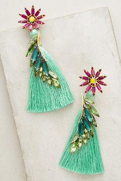 Slide View: 1: Tropical Grass Drop Earrings