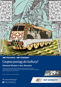 Poster design for Polish Railways PKP by Piotr Najar, via Behance