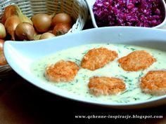 Qchenne-Inspiracje! FIT blog o zdrowym stylu życia i zdrowym odżywianiu. Kaloryczność potraw. : Pulpeciki z łososia w sosie śmietanowo - koperkowy...