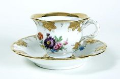 Meissen Tea Cup and Saucer.
