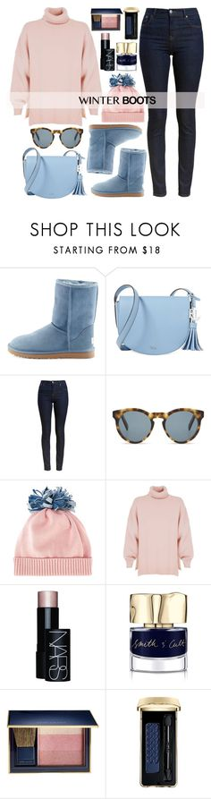 """""""So Cozy: Winter Boots"""" by alaria ❤ liked on Polyvore featuring UGG Australia, Lauren Ralph Lauren, Barbour, DICK MOBY, Federica Moretti, TIBI, NARS Cosmetics, Smith & Cult, Estée Lauder and Guerlain"""
