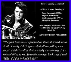 The first famous musician I can remember hearing on the radio or seeing on TV was the boy from Tupelo. He died before I was old enough to go see him live in concert. But I have the Comeback Special and Aloha from Hawaii DVDs, so it's all good. Elvis Presley Quotes, King Elvis Presley, Elvis Quotes, Elvis Presley Pictures, Deepest Gratitude, Rotten Tomatoes, Beautiful Voice, Clint Eastwood, Graceland