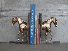 Foundation+Sculpture+Horse+Bookend+Gold+Tone+by+EQUINEbyLauren,+$130.00